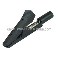 Alligator Clip with 2mm Socket,Safe insulated crocodile clip
