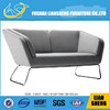 European Country Style Fabric Sofa, Three seat Sofa set with wooden legs, Arc-shaped
