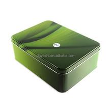 Cookie Tin Box/Sweety Rectangular Tin Cans /4c Printing Metal Tin Packaging