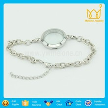 30mm Floating Locket Bracelet,Memory Living Locket Bracelet