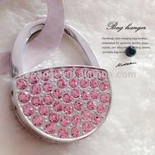 Personalized metal crystal handbag hanger,stone bag hook,Zinc alloy