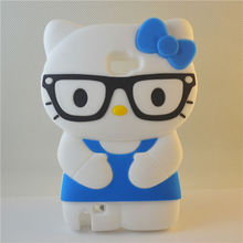 soft silicone hello kitty wearing glasses case 3d sublimation case for samsung galaxy note (blue)