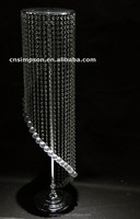 Spiral Faxu Crystal Beaded for Wedding Chandelier Centerpieces Decorations and any Party DEcor(Clear)