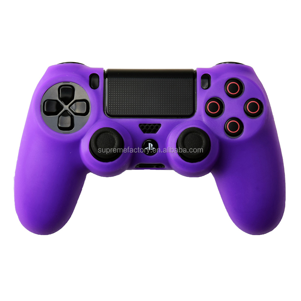 New silicone case pouch for ps4 dualshock 4 controller purple for Housse manette ps4