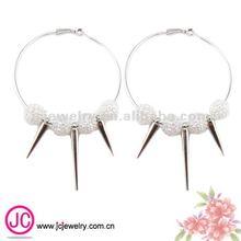 wholesale basketball wives crystal ball spike hoop earrings