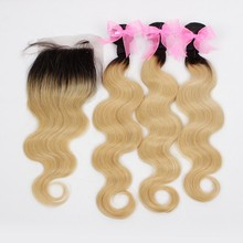 Carina Hair Products Top Quality Grade 7A Wholesale Price Body Wave Colored Two Tone Hair Weave
