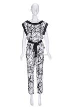 Elastic emulation silk jumpsuits for women 2015