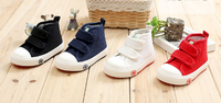 2015 oure color kids canvas high shoes with 18-23 size, suits for1-3 years babies