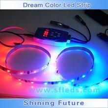 5M 5050 60SMD RGB Dream Color Flash led light RGB 1903 IC chip LED Strip 133 change + RF Remote