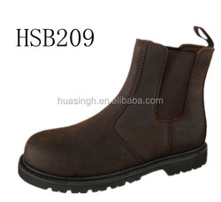 Top grade quality Chelsea pull on style safety standard work boots with side elastic