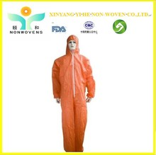 Disposable Nonwoven Coverall / orange work coveralls/ Protective Clothes for sale