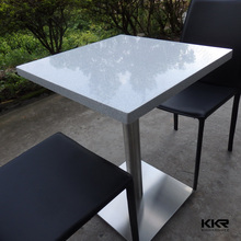Fast food table, quartz dining table for restaurant