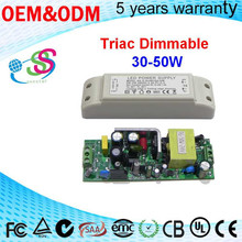 110/220Vac constant current led driver 300mA 30w-50W dimmable power supply Triac dimming for LED flashlight