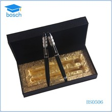 Classical simple metal pen set for soft pen gift