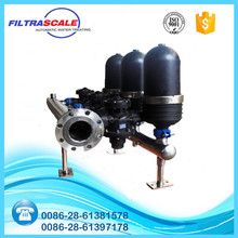 Automatic low maintenance whole house water filter system
