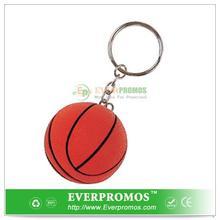 Novelty Design Basketball Stress Ball - Keychain For Fun