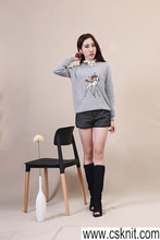 American style fashion short sleeve sweater/designs of woolen sweaters