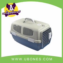 plastic pet dog carrier dog/cat cage easy portable