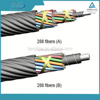 2015 newest layer stranding 192cores air blowing ftth cable