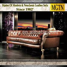 Classic Antique Furniture Italian Leather Chesterfield Sofa JB678