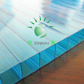 material de construção de parede dupla ge folha de plástico oco preço folha de policarbonato colorido