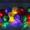 rattan ball christmas led light/Home decor/christmas ball lights