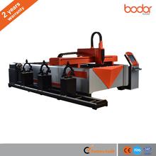 400-2000W Tubo Redondo e placa de dupla utilização do metal a laser máquina de corte