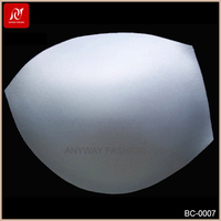 High grade polyester fabric 3/4 thin foam bra pads wholesale