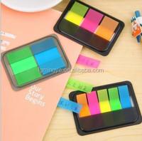 Hotsale 5 color a set pet sticky bookmarks,film index sticky notes,transparent sticky notes