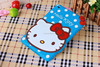 Cute 3D Cartoon Hello kitty Stand Tablet Designer Ultra Soft Silicon Cover For Ipad Ari 2/Ipad 6
