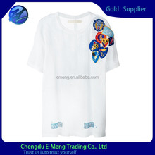 White stylish blank t-shirt made in screen cloth fabric for man