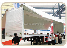 China Hot selling box semi trailer with side open door for sale /enclosed semi trailer / van semi trailer