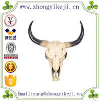 2015 chinese factory custom made handmade carved hot new products resin decorative bull heads