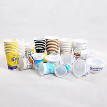 JC PP/PS disposable soybean packaging cups,bowls,composited heat sealing film