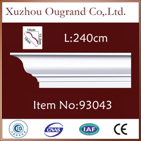 modern thin wood pu molding for wall decor from China