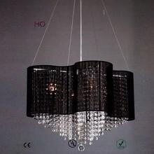 Style NEW--b-010 black new pendant crystal lighting
