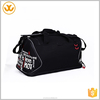 New design fashion gym duffel bag men black word pattern pvc promotional sport bag