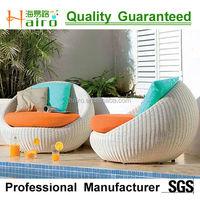 resin wicker round rattan sofa chair