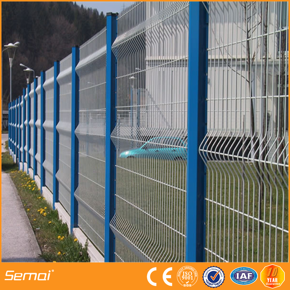 50x100mm 3d Curved Garden Fence Panels Coated White Welded Wire Mesh ...
