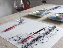 suave gran plato de mesa decorativas esteras mantel