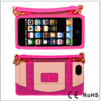 New Arrival Silicone Rubber Soft Gel Handbag Case For iPhone 5 5G