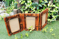 factory best quality pine engraving stripe wooden picture frame