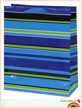 offset printing paper bag with stripes