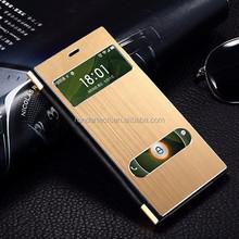 Mobile phone accessories brushed Aluminium metal flip case for xiaomi mi 3