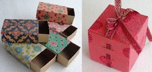 Custom printed folding paper favor boxes for weddngs, birthday parties, gifting, events