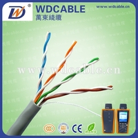 High quality twisted pair 24awg utp cat5e network cable 4 pair for network