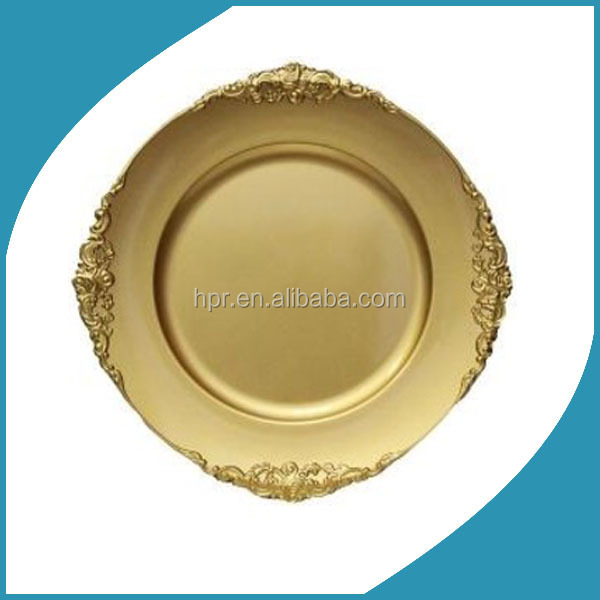 Cheap Wholesale Plastic Disposable Gold Wedding Charger