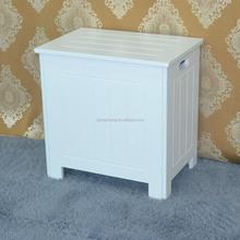 Home furniture high quality finish antique solid wood bathroom basket