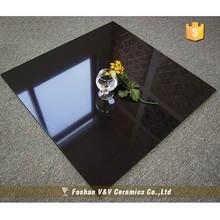 2015 Promotion Polished Porcelain Black Floor Tiles