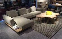 Hot Selling Products Modern Fashion Design Walnut Wood Fabric Sofa Sets Sofa Furniture
